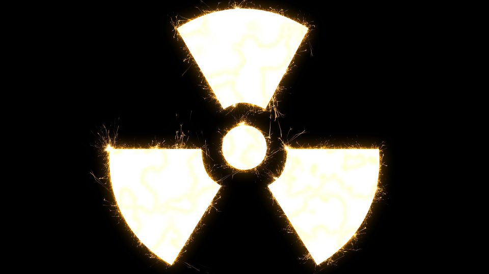 Dies ist das gängige Zeichen, das für Radioaktivität steht