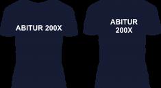 So oder so ähnlich könnte ein selbstbedrucktes Abitur T-Shirt aussehen