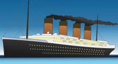 Eine Nachempfindung der RMS Titanic