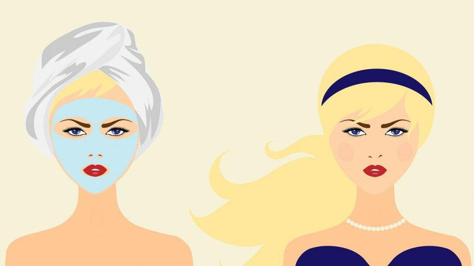 Gesichtspflege in Form einer Gesichtsmaske