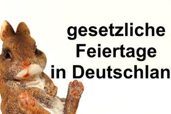 Gesetzliche Feiertage in Deutschland im Überblick