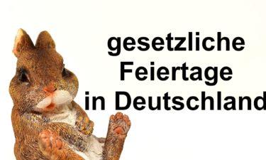 Gesetzliche Feiertage in Deutschland