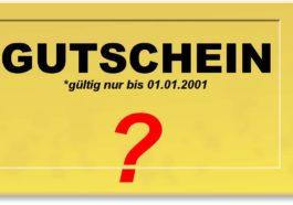 Gültigkeitsdauer von Gutscheinen